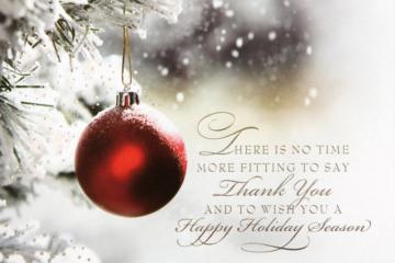 Happy Holiday Season to all
